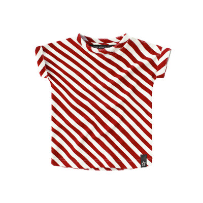 Red Stripes | Boxy Tee