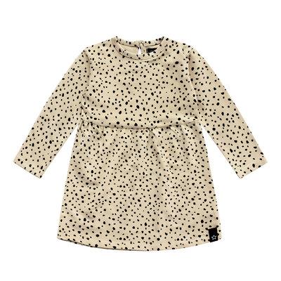 Cheetah - nude | Pleated dress LS